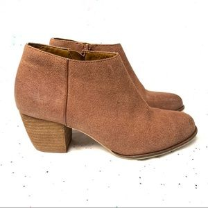 Lucky Brand ankle boots brown suede size 7